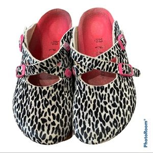 Birkenstock Dorian Leo Zebra Mule Clogs size 33